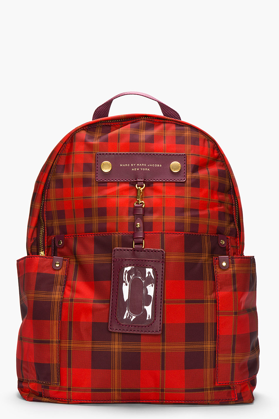 Marc by Marc Jacobs plaid backpack